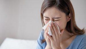 woman sinus1 300x169 - Of Caffeine Addict and Running Nose