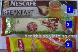 1 NescafeBreakfast 300x200 - Review of calories content of different types of premixed coffee/tea sold in Malaysia