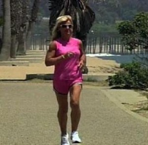 christine training 300x293 - Formerly Obese 220lbs woman now runs in marathons