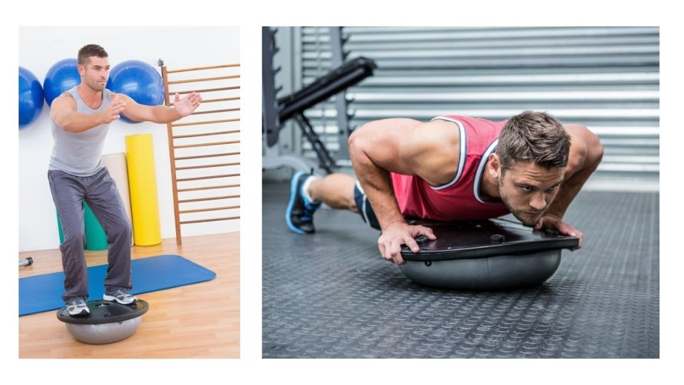 exercise bosuball - Always activate your core when doing body weight exercises to avoid/minimize injuries