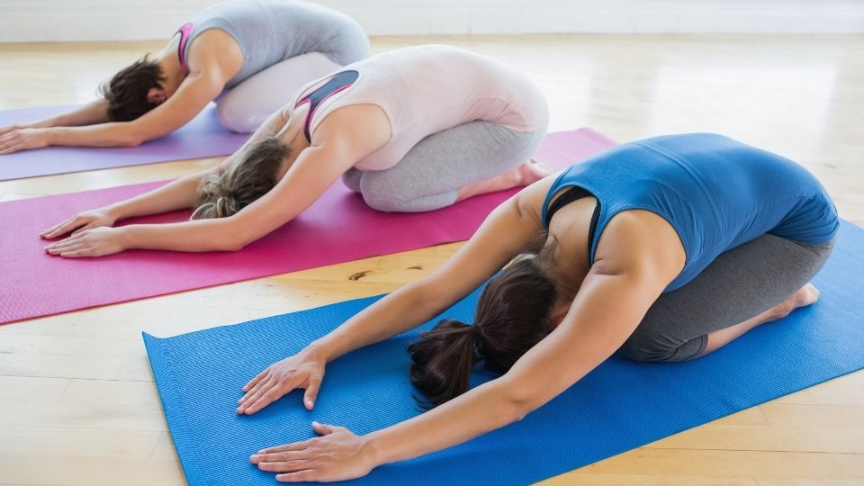 yoga childpose - More exercises to relieve stiff shoulders and lower back