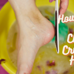 How to clean dirty feet and cracked heels
