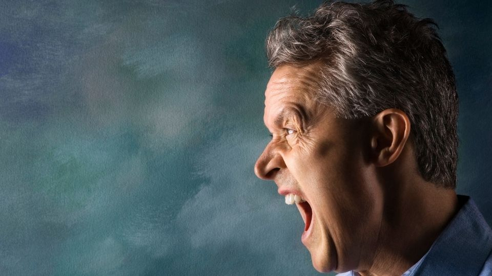 man yelling - Why it does not pay to have a bad temper