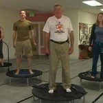 Rebounder senior 150x150 - Senior Exercising on Rebounder