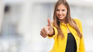woman thumbsup 300x169 - No matter how stressed you are, there's a way to work around it