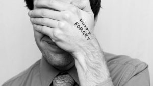 man forgetful 300x169 - Cause of forgetfulness- restlessness and remorse