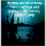 Harming and influencing others through dark practices like sorcery, pukau or jampi