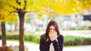 woman sinus allergic 300x169 - Am I allergic to things like perfume, mint, etc?