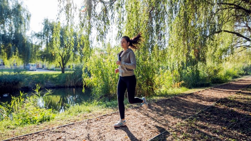 woman jogging - A little exercise goes a long way