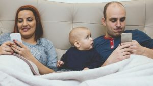 family phone 300x169 - Smartphone Addiction and how it ruins families