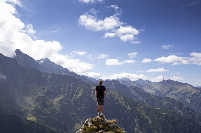 alone challenge man peak - Challenges and problems are put into our lives for a reason so why not stop running away from them