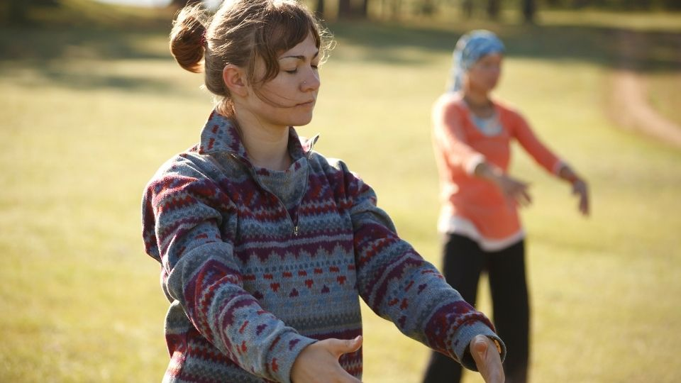 woman qigongexercise - Physical endurance from qi gong exercises (instead of cardio/ weight lifting)