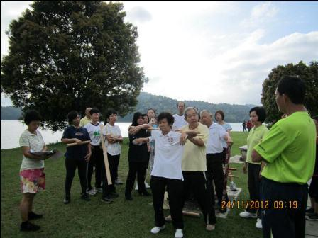 Cane Exercise at Robina Park Penang