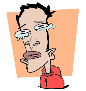 fever crying 284x300 - Why do I have cough, dry throat and stingy watery eyes?