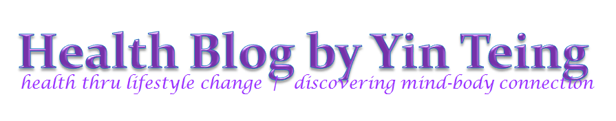 Health Blog by Yin Teing header image