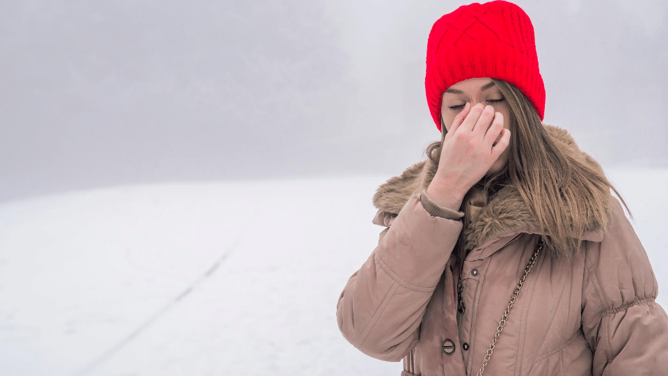 woman cold - Connection between heart valve problem and chronic sinus- Mind Body Connection