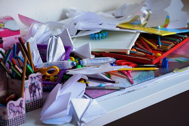 clutter - Cleaning, by removing negative energies may help autistic kids