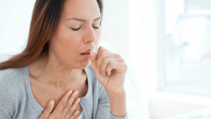 woman cough 300x169 - Cough with urine incontinence, laryngitis and vomiting (Emotional causes)