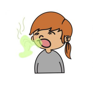 bad breath 300x300 - When your breath smells foul in the morning