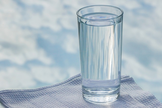Drink a glass of hot water-in the morning and after a bath