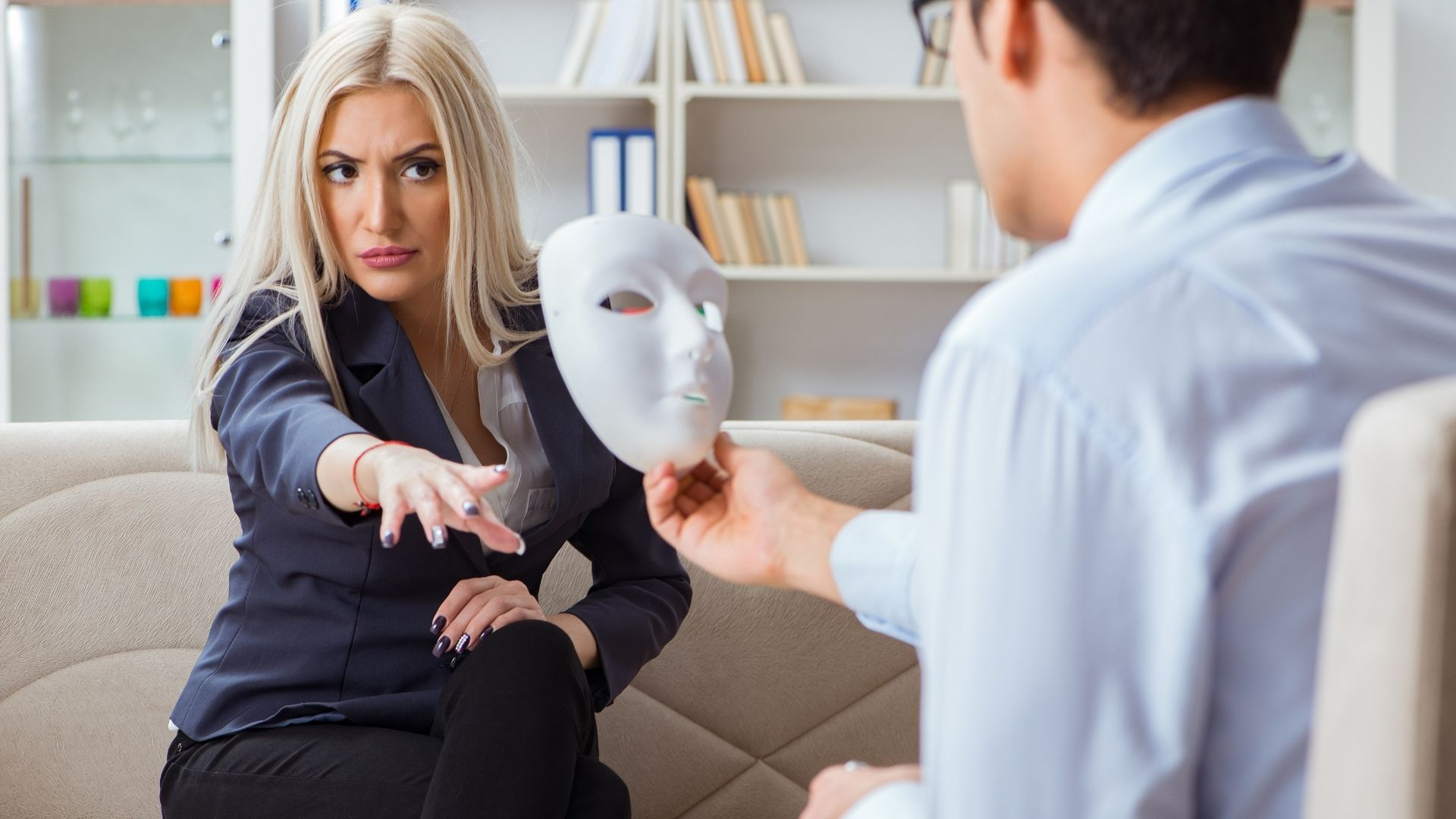 woman mask - Can a Narcissistic Person Ever Change?
